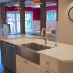 Farm sink in island-Milwaukee custom home
